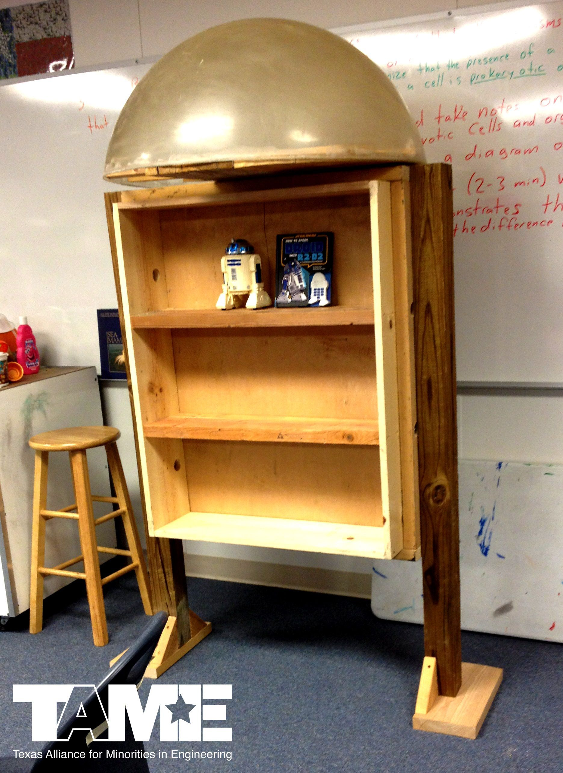 TAME Students Build DIY Little Free Star Wars Library As 6-ft R2D2