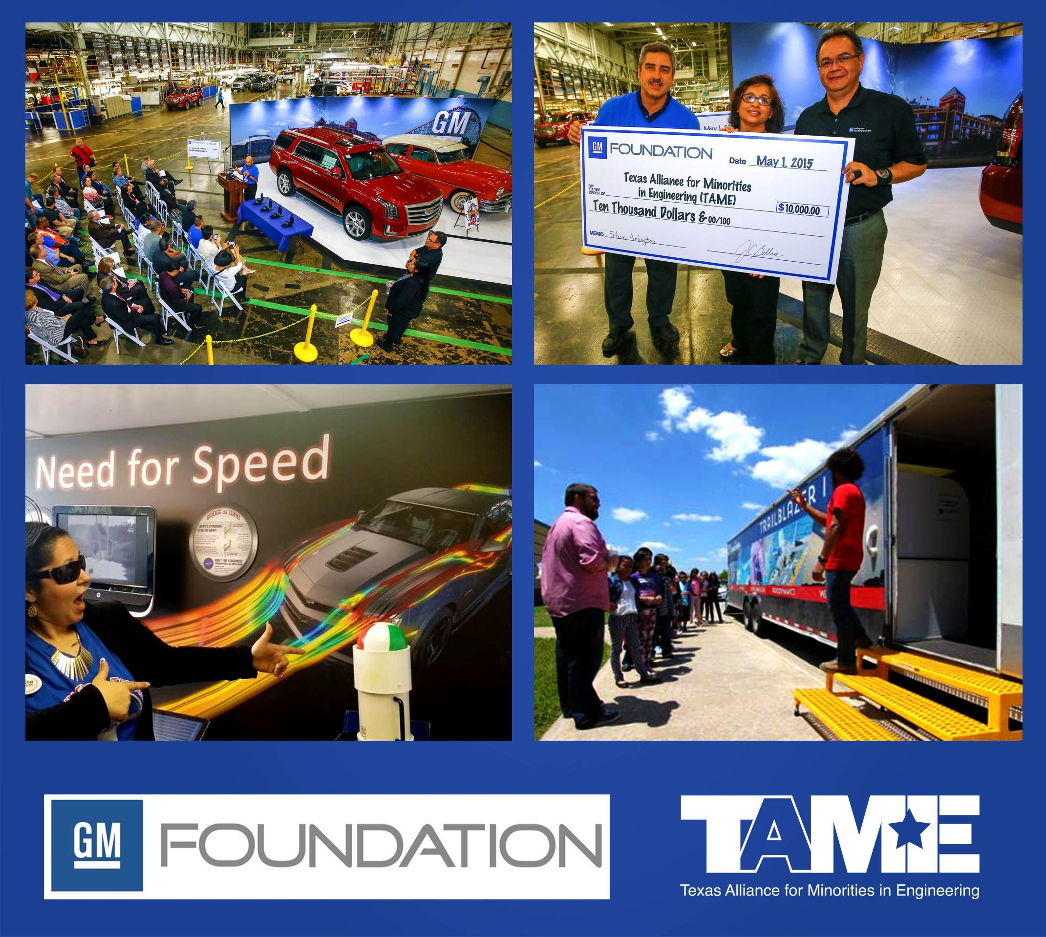 GM Foundation Awards $10,000 to TAME for STEM Students