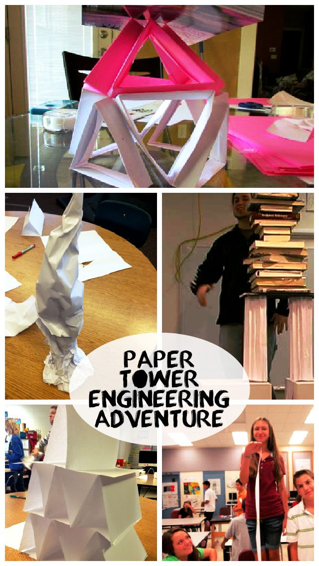 TAME Engineering Adventure: Paper Tower Challenge! This is a classic challenge, and a great way to teach kids of any age about collaboration, experimentation, and the value of learning from others.