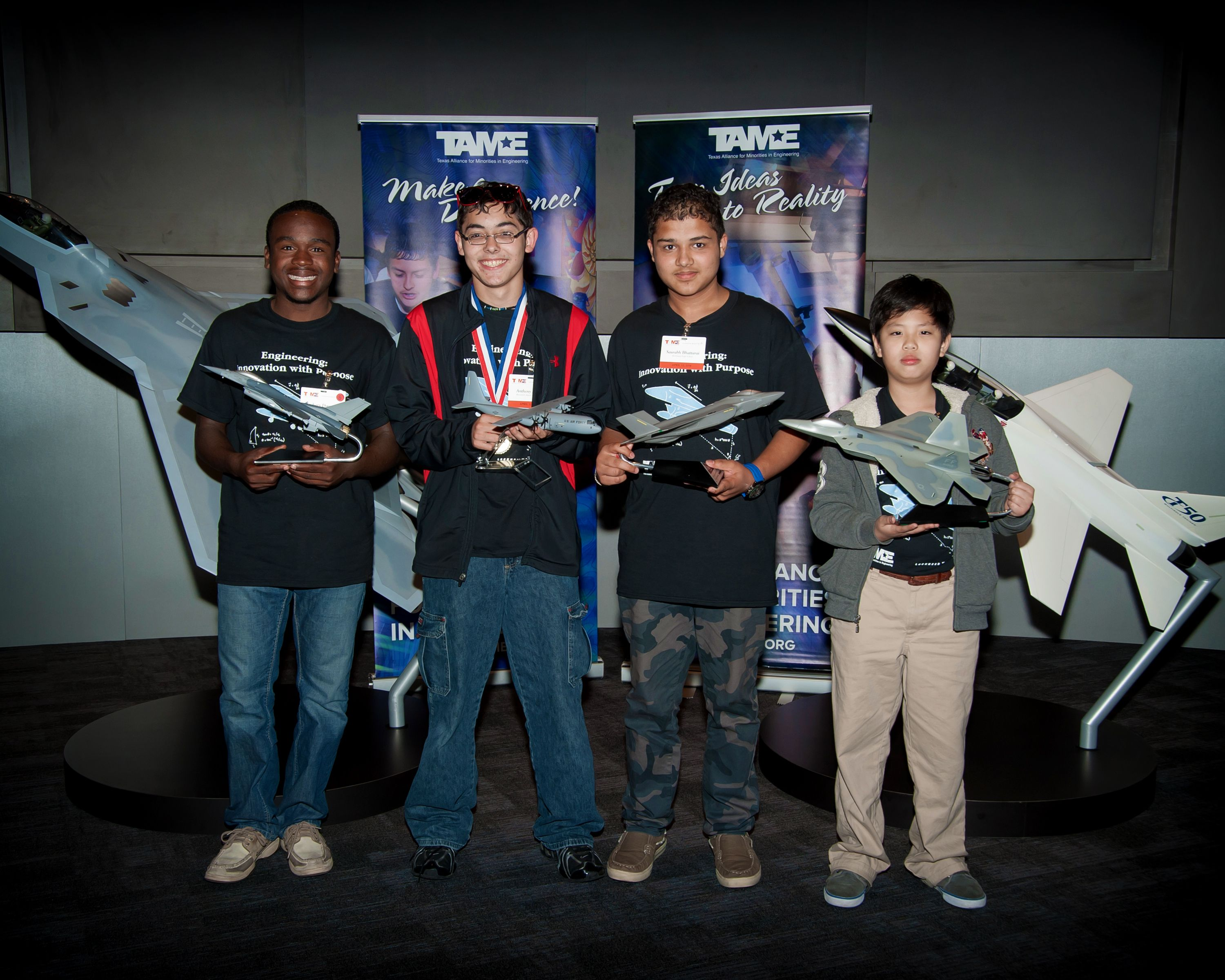 TAME State Competition at Lockheed Martin 2014 Collier Award Students