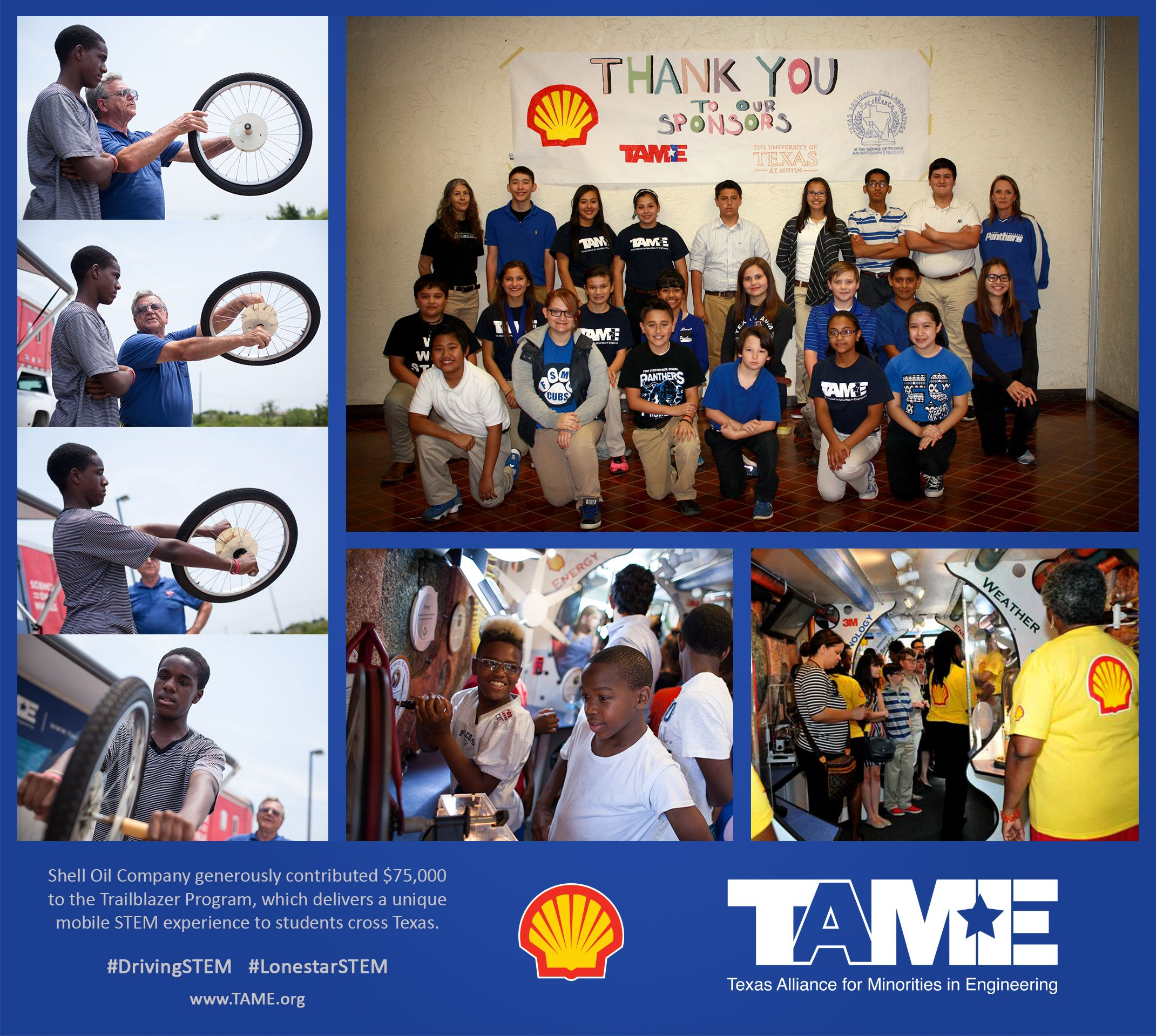 Shell Oil Company Donates $75,000 for Trailblazer Visits