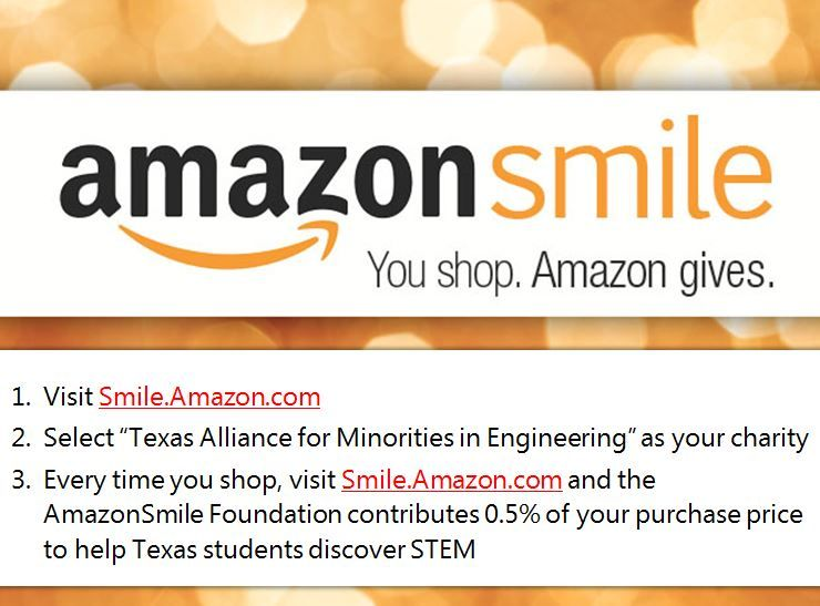 Amazon Smile donates to TAME whenever you make a purchase!