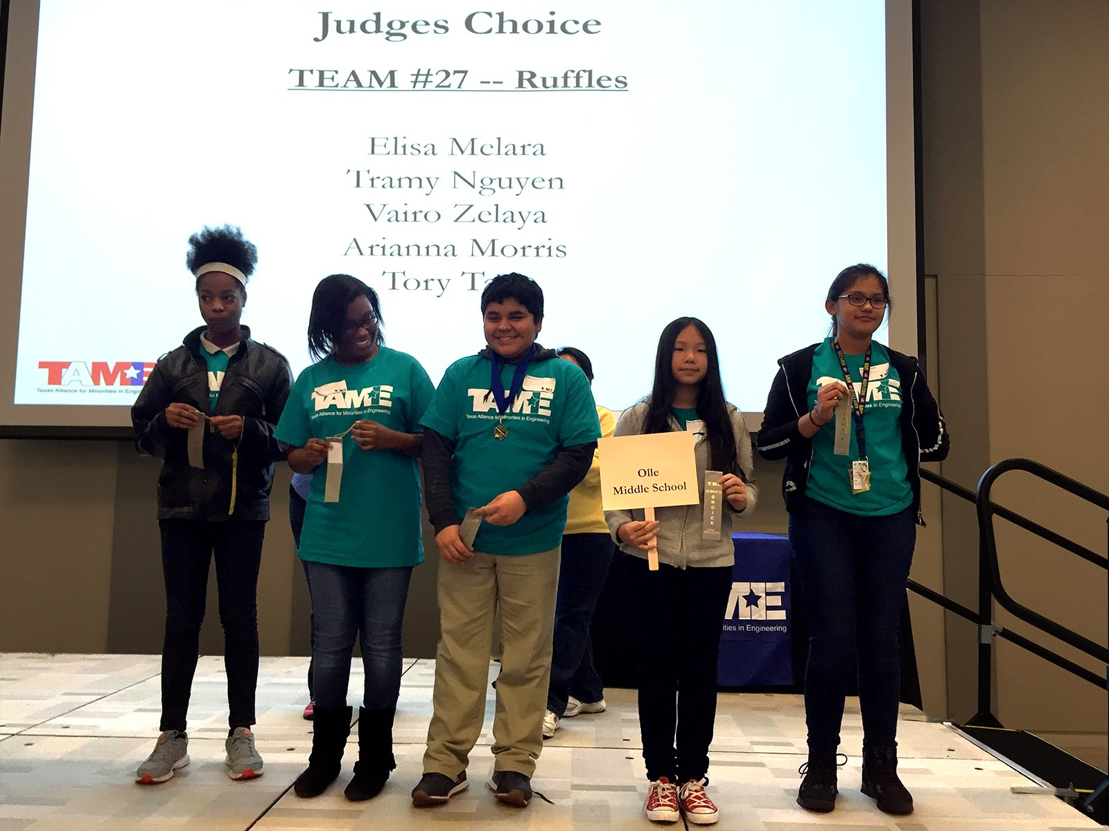 The 2016 TAME Dallas STEM Competition was hosted at Tarrant County College on Saturday February 6, 2016. (Lake Jackson, TX) – The 2016 TAME Gulf Coast STEM Competition was sponsored by BASF and hosted at Brazosport College on Saturday February 6, 2016
