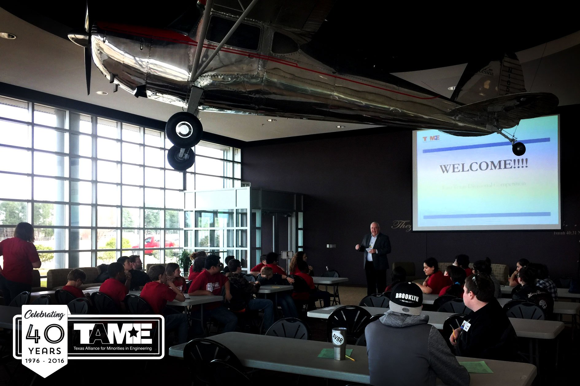 The 2017 TAME East Texas STEM Competition was hosted at the Abbot Aviation Center of LeTourneau University at the East Texas Regional Airport on Saturday January 27, 2017. The event, held free of cost to participants, brought together student competitors (grades 6-12) from across the region.