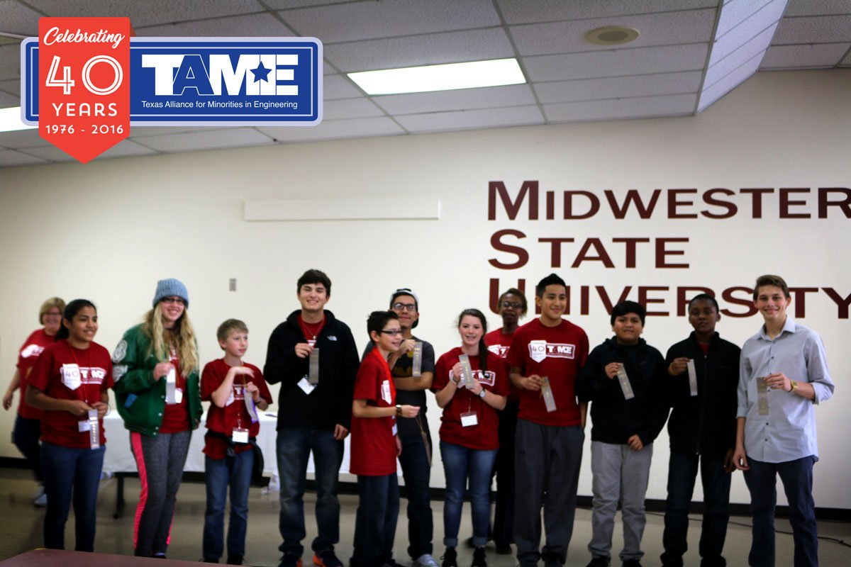 The 2017 TAME Wichita Falls STEM Competition was hosted by Midwestern State University on Saturday February 4, 2017. The event, held free of cost to participants, brought together over 80 student competitors (grades 6-12) from across the region.