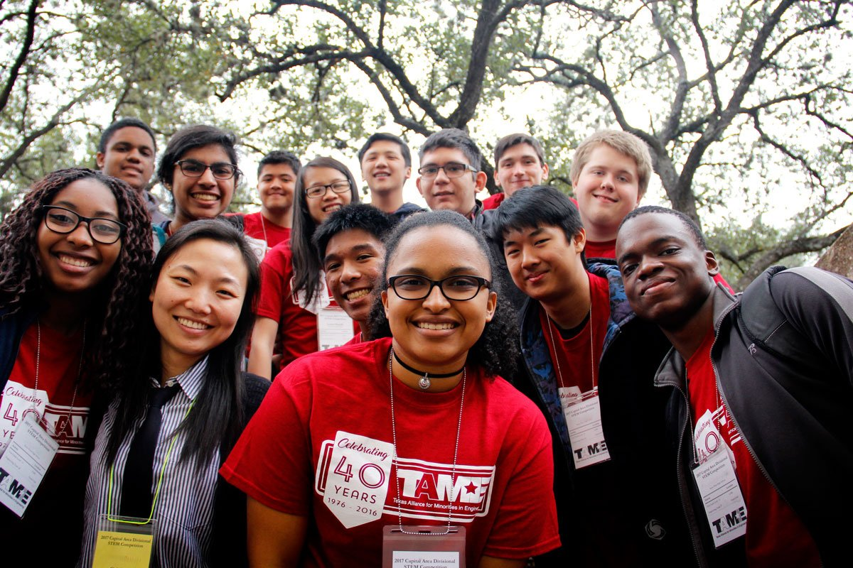 The 2017 TAME Capital Area STEM Competition was hosted at The University of Texas at Austin on Saturday February 4, 2017. The event, held free of cost to participants, brought together over 200 student competitors (grades 6-12) from across the region.